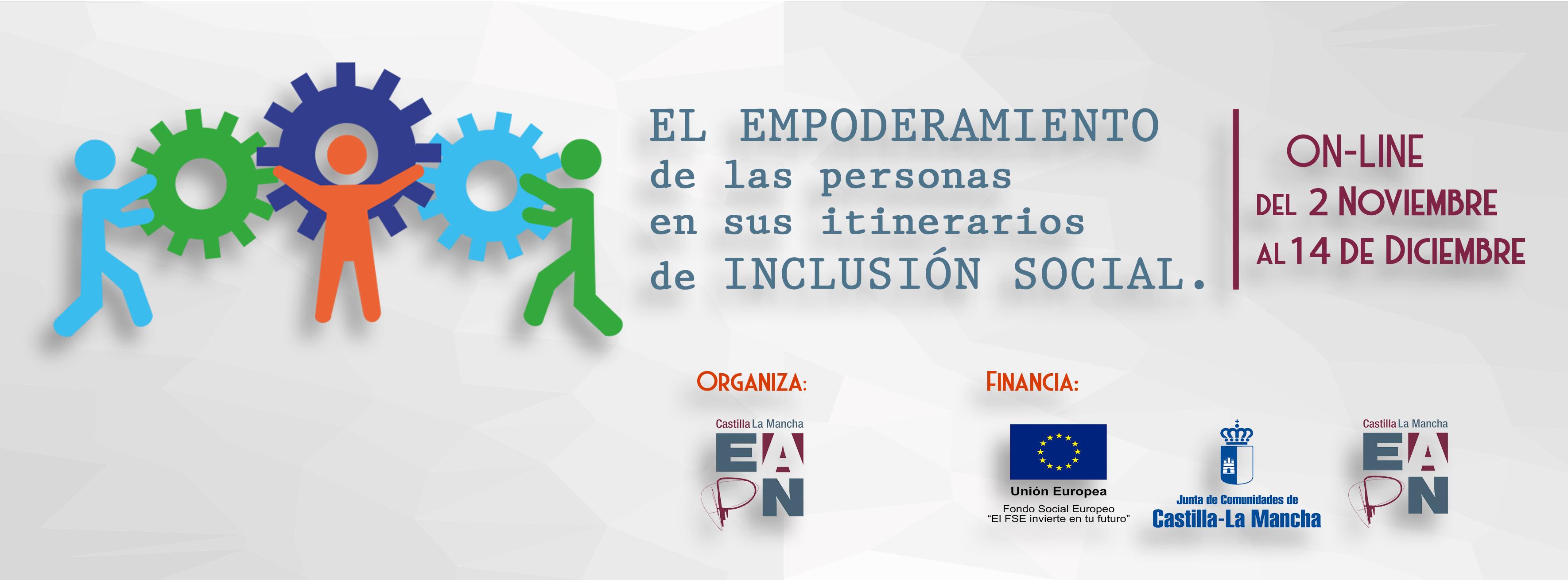 """Curso """"El empoderamiento de las personas en sus itinerarios de inclusión social""""."""
