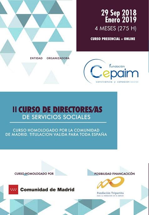 2ª EDICIÓN CURSO DIRECCIÓN SERVICIOS SOCIALES EN MADRID