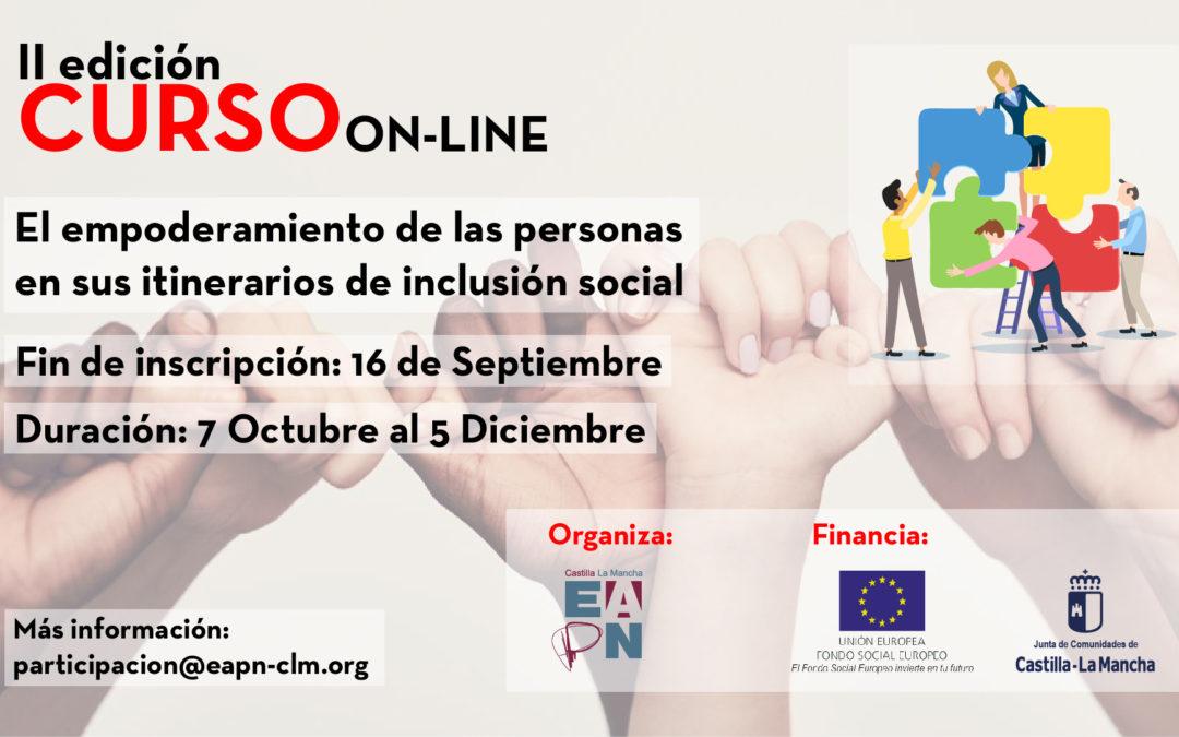 """EAPN-CLM organiza el curso """"El empoderamiento de las personas en sus itinerarios de inclusión social"""""""