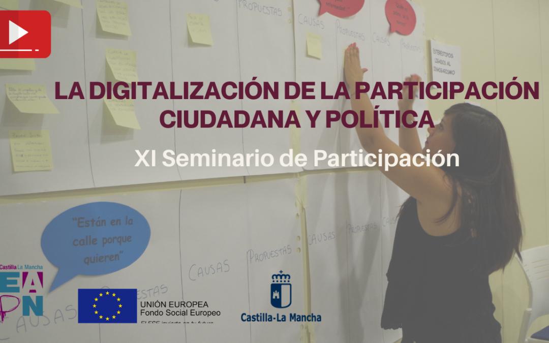 xi seminario autonomico de participacion